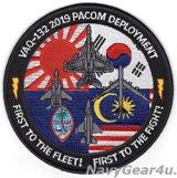 VAQ-132 SCORPIONS 2019 PACOMディプロイメント記念パッチ(ラージ)