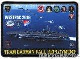 "CVW-5/CVN-76 WESTPAC 2019 ""TEAM BADMAN FALL DEPLOYMENT""クルーズ記念パッチ(ハイブリッド)"