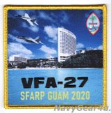 VFA-27 ROYAL MACES SFARP戦闘攻撃機先進即応プログラムGUAM DET 2020展開記念パッチ(ハイブリッド)