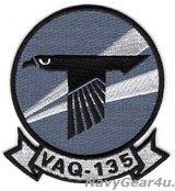 VAQ-135 BLACK RAVENS THROWBACK部隊パッチ(ベルクロ有無)