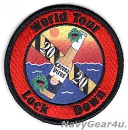 画像1: LHA-6 USSアメリカ World Tour Lock Down 2020クルーズ記念パッチ(ベルクロ有無)