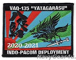 """画像1: VAQ-135 BLACK RAVENS""""YATAGARASU"""" INDO-PACOM ディプロイメント2020-2021記念パッチ"""