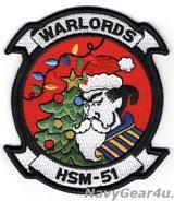HSM-51 WARLORDS HOLIDAY部隊パッチ(ベルクロ有無)