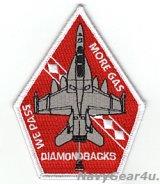 VFA-102 DIAMONDBACKS WE PASS MORE GASタンカーロールショルダーパッチ(ベルクロ有無)