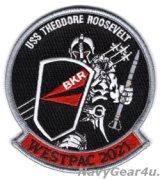 VFA-154 BLACK KNIGHTSウエストパックク2021クルーズ記念パッチ(ベルクロ有無)