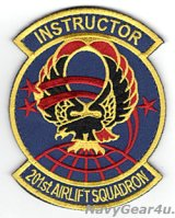 コロンビアANG 113WG/201AS インストラクターパッチ(ベルクロ付き)
