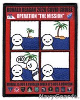"""CVW-5/CVN-76 WESTPAC 2020 COVIDクルーズ OPERATION """"THE MISSION""""記念パッチ(レッド/VFA-102)"""