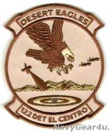 VFA-122 FLYING EAGLES DETエル・セントロ部隊パッチ(ベルクロ付き)