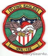 VFA-122 FLYING EAGLES HOLIDAY部隊パッチ(ベルクロ有無)