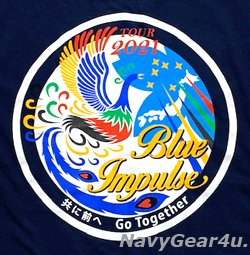 画像2: 第11飛行隊ブルーインパルス 2021ツアー記念限定T-シャツ(ネイビー)