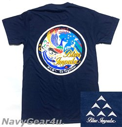 画像1: 第11飛行隊ブルーインパルス 2021ツアー記念限定T-シャツ(ネイビー)