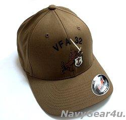 画像1: VFA-32 SWORDSMENオフィシャルボールキャップ(コヨーテ/FLEX FIT)