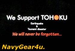"""画像3: 東北応援""""We Support TOHOKU""""ONE TEAM T-シャツ(ブラック)"""