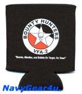 VFA-2 BOUNTY HUNTERS缶クージー(ブラック)