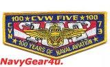 CVW-5/CVN-73米海軍航空100周年記念パッチ(ポケットフラップ・スタイル)