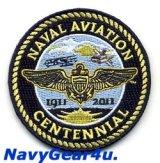 米海軍航空100周年NAVAL AVIATON CENTENNIAL公式記念パッチ(海軍バージョン/ベルクロ有無)