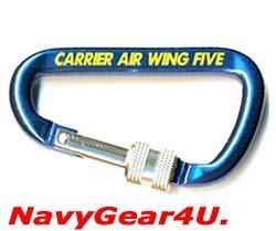 画像1: 第5空母航空団CVW-5(NF)カラビナ/キーリング(スクリューロック)