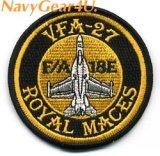 VFA-27 ROYAL MACES F/A-18Eショルダーバレットパッチ(ベルクロ有無)